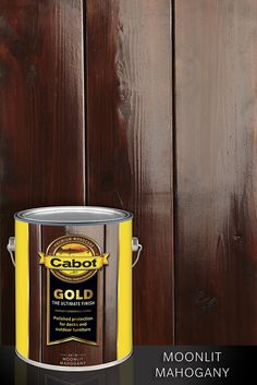 Cabot Gold The Ultimate Finish brings the glory of mahogany floors to the great outdoors. Look for Moonlit Mahogany wherever fine wood stains are sold. Mahogany Decking, Mahogany Flooring, Mahogany Stain, Deck Stain Colors, Deck Colors, Cabot Stain, Outdoor Deck Decorating, Deck Makeover, Fence Stain