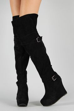 Thigh high boots are among the sexiest boots in the wardrobe of women. These boots extend across the knee. Boots are among the fashion accessory of women and women. Thigh High Boots, High Heel Boots, Heeled Boots, Bootie Boots, Boot Heels, Stiletto Boots, Black Wedge Boots, Black Ankle Booties, Black High Heels