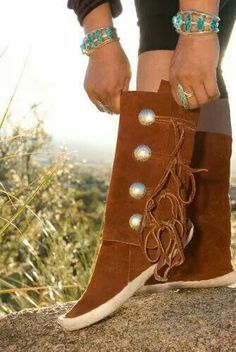 1000 Images About Navajo Moccasins On Pinterest