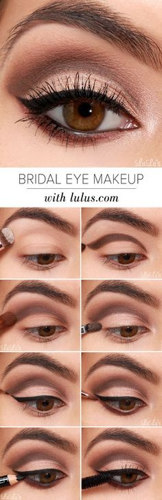 bridal-eye-makeup via Easy Step by Step Bridal Eye Makeup Tutorials