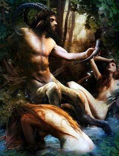 The Greek god, Pan.