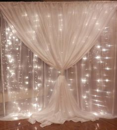 Backdrop with fairy lights