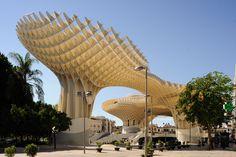 Metropol Parasol, Seville - Jürgen Mayer H Balearic Islands, Construction, Building Structure, Parasol, Built Environment, Andalucia, Architecture, Landscape Design, Sustainability