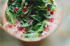 strawberry grapefruit vodka smash w/ fresh mint • sprouted kitchen