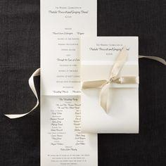Tied Elegant Ecru Elegant Wedding Program http://partyblock.carlsoncraft.com/Wedding/Programs/3124-BSPF5878-Tied-Elegant-Ecru--Wedding-Program.pro