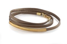 Mink Skinny Leather Wrap Bracelet   BRIKA - A Well-Crafted Life