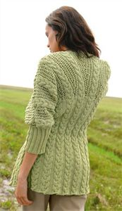 Bergere de France Womens Knitting Patterns 3/4 Sleeve Jacket Knitting Pattern
