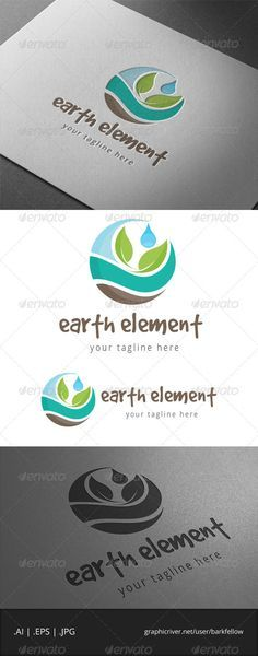 Earth Nature Element Logo - Nature Logo Templates