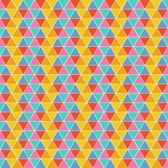 Colorful triangles: such a pretty fabric