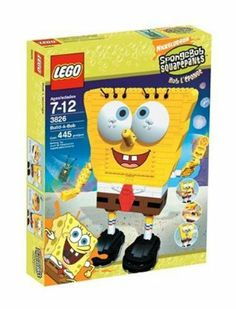 LEGO SpongeBob Build-A-Bob by LEGO. $189.99. Detailed assembly instructions with 3-dimensional diagrams. Build and control a big LEGO SpongeBob. Shoot plastic bubbles from SpongeBob's mouth. Includes SpongeBob, Plankton figure, and accessories. 445 pieces. Amazon.com Sneak a peek inside SpongeBob's head! Down in Bikini Bottom, Plankton has somehow squeezed his way into the brain of SpongeBob SquarePants. As Plankton starts flipping levers and turning gears, bu...
