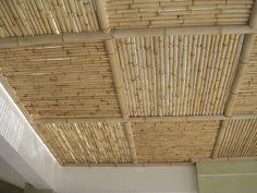 Bamboo Roof, Bamboo Ceiling, Bamboo Fence, Bamboo Furniture, Furniture Design, Cafe Interior, Interior Design, Bamboo House Design, Deco Restaurant