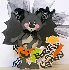 ELITE4U Scrappinwmn Premade Scrapbook Halloween Treat Holder Paper Piecing | eBay