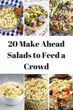 this list! 20 Make ahead salads to feed a crowd! - using this list! 20 Make ahead salads to feed a crowd! - this list! 20 Make ahead salads to feed a crowd! - using this list! 20 Make ahead salads to feed a crowd! Salad Recipes For Parties, Summer Salad Recipes, Potluck Recipes, Healthy Salad Recipes, Summer Salads, Crowd Recipes, Meat Recipes, Make Ahead Salads, Salads For A Crowd