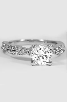 Diamond Infinity Engagement Ring | Twisted Vine