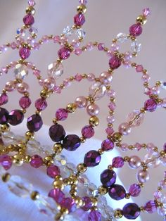 Tiara Princess Fuschia Buy Dance tiaras, Swarovski crystal beaded headpieces for ballet dancers