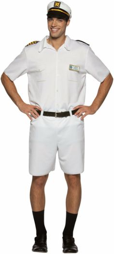 About Costume Shop Love Boat Captain Stubing Costume - Love Boat Captain Stubing Adult CostumeBring back the memory of that lovable ship captain!Costume includes: White shirt, shorts and sailor hatAvailable size: One size fits mostProduct Page Casino Costumes, Movie Costumes, Adult Costumes, Halloween Costumes, Casino Party Games, Casino Theme Parties, Casino Dress, Casino Outfit, Captain Costume