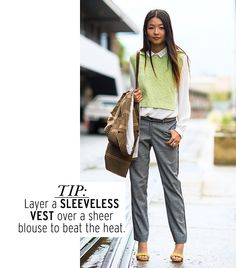 Yan Yan Chan - sleeveless vest are a perfect summer staple to layer without overheating - Blog - http://parfasseux.blogspot.com.au