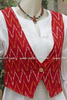 Different types of jacket style kurtis designs Jacket Style Kurti, Kurti With Jacket, Kurti Sleeves Design, Kurta Neck Design, Kurta Designs Women, Salwar Designs, Dress Neck Designs, Sleeve Designs, Kurta Patterns