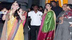 Rekha the Only Celebrity at Vidya-Siddharth Sangeet.