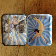Trapeze artists in up-cycled tin