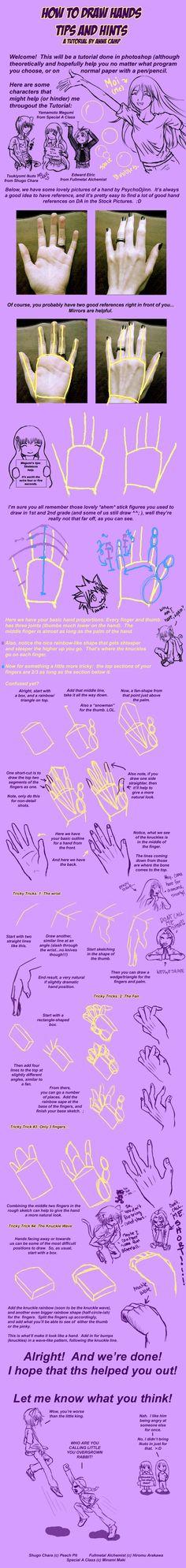 How to draw hands part 1. Part 2 here: http://obi-quiet.deviantart.com/art/Hand-Tutorial-2-103542132