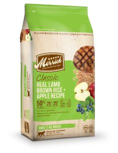 Merrick Classic 30-Pound Adult Real Lamb, Brown Rice and Apples Dog Food, 1 Bag - List price: $58.99 Price: $43.99 Saving: $15.00 (25%)