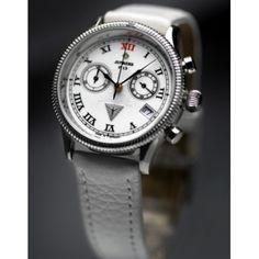 Watches, Accessories, Fashion, Shopping, White Leather, Sport Watches, Moda, Wristwatches, Fashion Styles