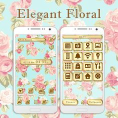 """""""Elegant Floral"""" Available From:2/22 '16 (EST) If you want to bring some real class to your smartphone, then you can't go wrong with this fancy theme! http://app.android.atm-plushome.com/app.php/app/themeDetail?material_id=1427&rf=pinterest #cute #wallpaper #design #icon #beautiful #plushome #homescreen #widget #deco"""