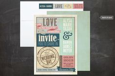 Poster Invitations - Eclectic Wedding Invitations
