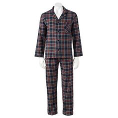 Hanes Plaid Flannel Pajama Set - Men