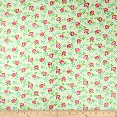 Tanya Whelan Sugar Hill Laminate Scattered Roses Ivory from @fabricdotcom  Designed by Tanya Whelan for Free Spirit, this laminated fabric meets the key provisions of the CPSIA (Comprehensive Consumer Product Safety Improvement Act of 2008). Does not contain any lead or thyolate. Soft, protective film is laminated to the face of the fabric, its softness makes this cloth extremely pliable for fashion, and the durability combined with easy-care convenience (cleans up easily with a damp cloth) ...