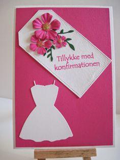 Leneshobby Konfirmationskort til pige Diy And Crafts, Paper Crafts, Great Pic, Christening, I Card, Paper Art, Birthdays, Scrapbook, Fun