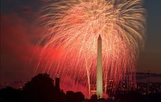 Fourth of July fireworks over the Washington Monument in Washington D.C. (L.A. Times, July 4, 2014.)