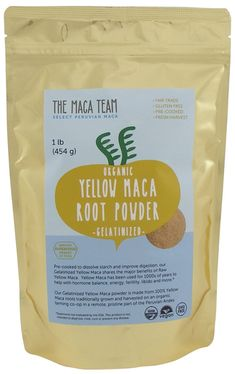 Gelatinized Maca Root Powder From Peru – Certified Organic, Fresh Wildcrafted Harvest, Fair Trade, Gmo-free, Vegan and Pre-cooked – 1 Lb. Maca Root Powder, Getting Pregnant Tips, Best Multivitamin, Healthy Snacks For Adults, Whey Protein Powder, Nutritional Supplements, Gelatin, Raw Vegan, Superfood