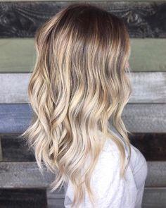 Ash Blonde Balayage Root Smudge Hair
