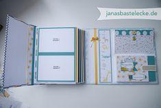 JanasBastelecke: Kreativer Montag 65 - Hardcover Erinnerungsalbum für Babys 1. Jahr - Teil 2 mit Anleitungsvideo