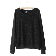 New 2013 Fashion t shirt women clothing Leisure Comfy Tops For Women Lace Patchwork Crew Neck Long Sleeve T-shirt Women WF-5196 $12.71 - 13.34