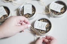 Learn how to make your own tea tin wedding favors! Tea Wedding Favors, Tea Party Favors, Diy Wedding, Wedding Gifts, Wedding Stuff, Dream Wedding, Wedding Ideas, Tea Tag, Dance Floor Wedding