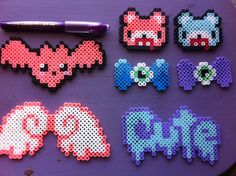 Tumblr Pastel Goth Perler Beads Bloody Bears by AllieMiddlemiss