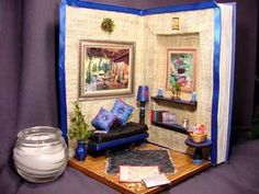diorama made in a book