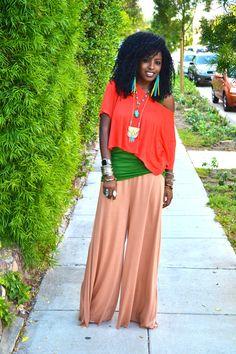 Crop Top + Silk Tank + DIY Flared Pants