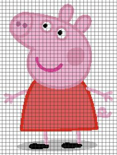 Diy Crafts - Peppa Pig (Chart/Graph AND Row-by-Row Written Crochet Instructions) – 02 Intarsia Knitting, Jumper Knitting Pattern, Knitting Charts, Baby Knitting Patterns, Cross Stitch Charts, Cross Stitch Designs, Cross Stitch Patterns, Pixel Crochet, Crochet Chart
