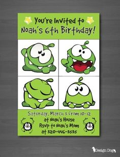 Cut-the-Rope-Om-Nom-Birthday-Invitation