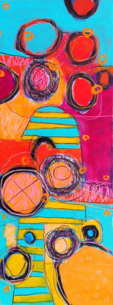 """Beehive - 48"""" x 18"""" : Archive of Sold Work : Susan Finsen - Abstract Drawing and Painting"""
