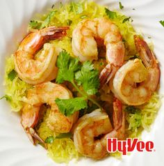Skip pasta? Serve Garlic Shrimp with Cilantro Spaghetti Squash instead. Only 10 grams of carbs!