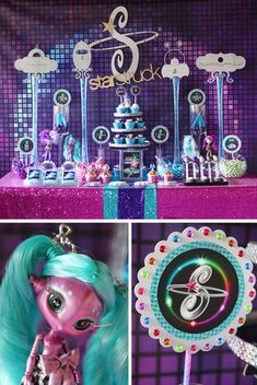 A super girly spin on space parties!