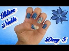 #31 Day Challenge / Day 5 / Blue Nails