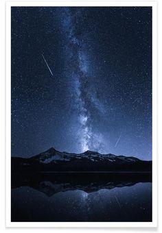 Galaxies Reflection - Toby Harriman als Premium Poster von 1x | JUNIQE