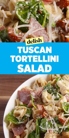 Tuscan Tortellini Salad puts all other pasta salads to shame. Get the recipe on Delish.com.
