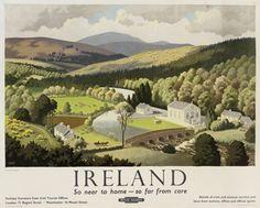 Ireland - Vale of Clara, county Wicklow - British Railways - 1948 - (Ronald Lampitt) -